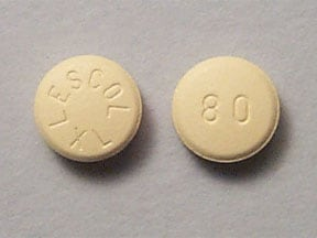 LESCOL XL 80 MG TABLET