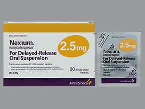 NEXIUM DR 2.5 MG PACKET