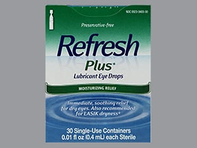 REFRESH PLUS 0.5% EYE DROPS