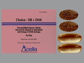 CHOICE-OB + DHA COMBO PACK