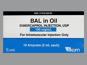 BAL IN OIL 100 MG/ML AMPULE