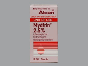 MYDFRIN 2.5% EYE DROPS