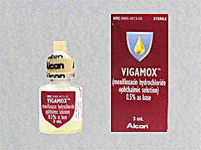 VIGAMOX 0.5% EYE DROPS