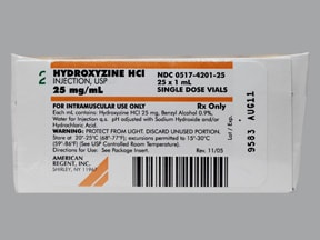 HYDROXYZINE 25 MG/ML VIAL