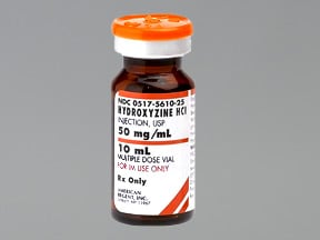 HYDROXYZINE 500 MG/10 ML VIAL