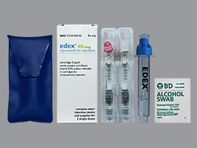 EDEX 40 MCG CARTRIDGE 2-PK KIT