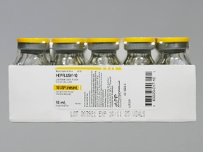 HEPARIN 100 UNIT/10 ML (10/ML)