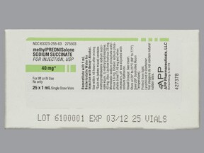 METHYLPREDNISOLONE 40 MG VIAL