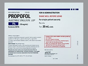 PROPOFOL 10 MG/ML VIAL