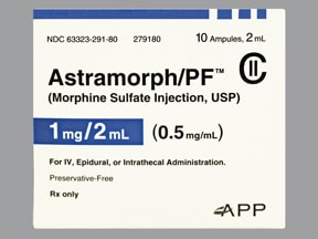 ASTRAMORPH-PF 1 MG/2 ML AMPULE