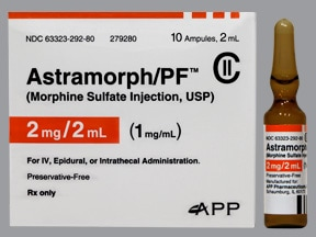 ASTRAMORPH-PF 1 MG/ML AMPUL