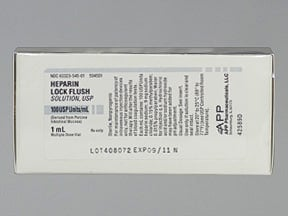 HEPARIN LOCK FLUSH 100 UNIT/ML