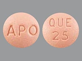 Image for quetiapine oral 25 mg