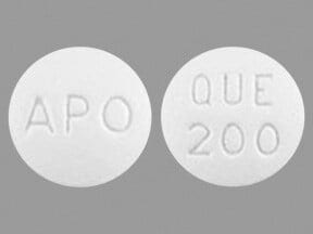 Image for quetiapine oral 200 mg