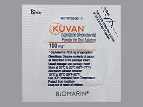 KUVAN 100 MG POWDER PACKET