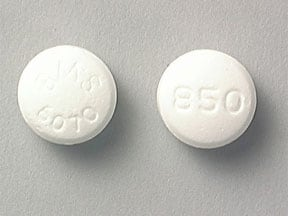 GLUCOPHAGE 850 MG TABLET
