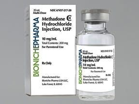 METHADONE HCL 10 MG/ML VIAL