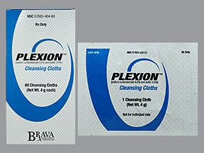 PLEXION 9.8-4.8% CLNSING CLOTH