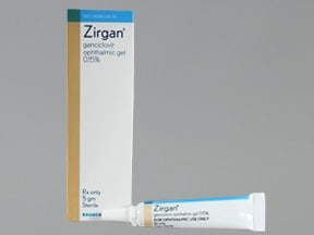 ZIRGAN 0.15% OPHTHALMIC GEL