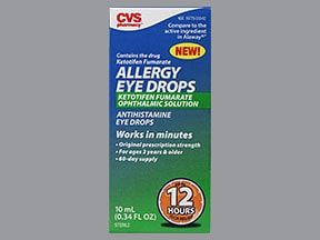 CVS ALLERGY 0.025% EYE DROPS