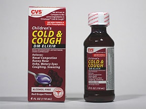 CVS CHILDS COLD & COUGH DM ELX