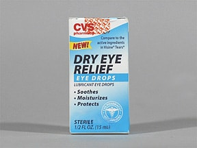 CVS DRY EYE RELIEF EYE DROPS