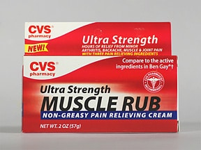 CVS MUSCLE RUB ULTRA STR CREAM