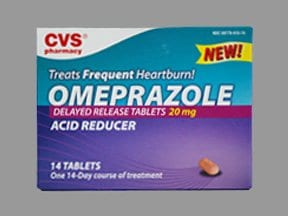 CVS OMEPRAZOLE DR 20 MG TABLET