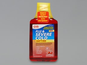 CVS FLU & SEVERE COLD LIQUID