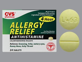 CVS ALLERGY RELIEF 4 MG TABLET