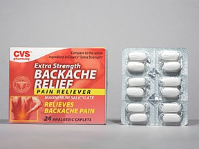 CVS BACKACHE RLF 580 MG CAPLET