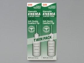CVS ENEMA DISPOSABLE TWIN PACK