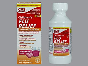 CVS CHILDREN'S FLU RELIEF SUSP