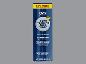 CVS ACNE FOAMING FACE 10% WASH