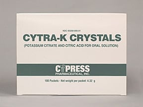 CYTRA-K CRYSTALS PACKET