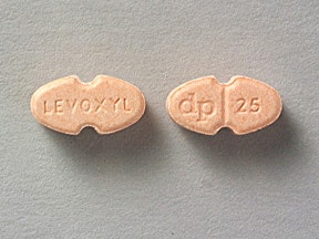 LEVOXYL 25 MCG TABLET