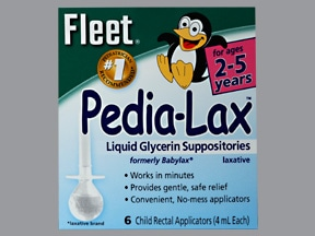 FLEET PEDIA-LAX SUPPOSITORIES