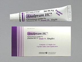 ANALPRAM HC 1% CREAM SINGLES