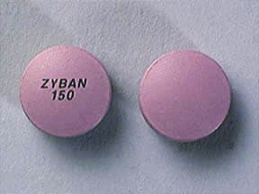 ZYBAN SR 150 MG TABLET