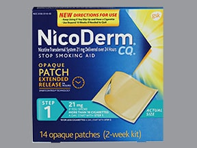 NICODERM CQ 21 MG/24HR PATCH