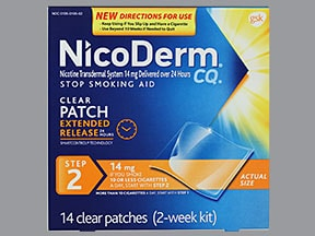 NICODERM CQ 14 MG/24HR PATCH