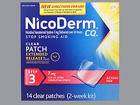 NICODERM CQ 7 MG/24HR PATCH