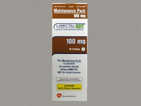 LAMICTAL ODT 100 MG TABLET
