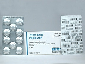 LEVOCARNITINE 330 MG TABLET