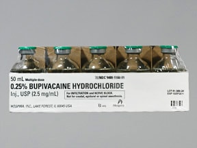 BUPIVACAINE 0.25% VIAL
