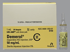 DEMEROL 50 MG/ML AMPUL