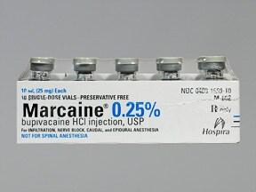 MARCAINE 0.25% VIAL
