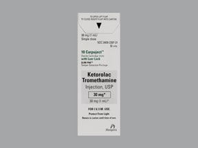 KETOROLAC 30 MG/ML CARPUJECT