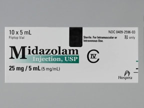 MIDAZOLAM HCL 5 MG/ML VIAL
