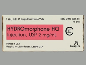 HYDROMORPHONE 2 MG/ML VIAL